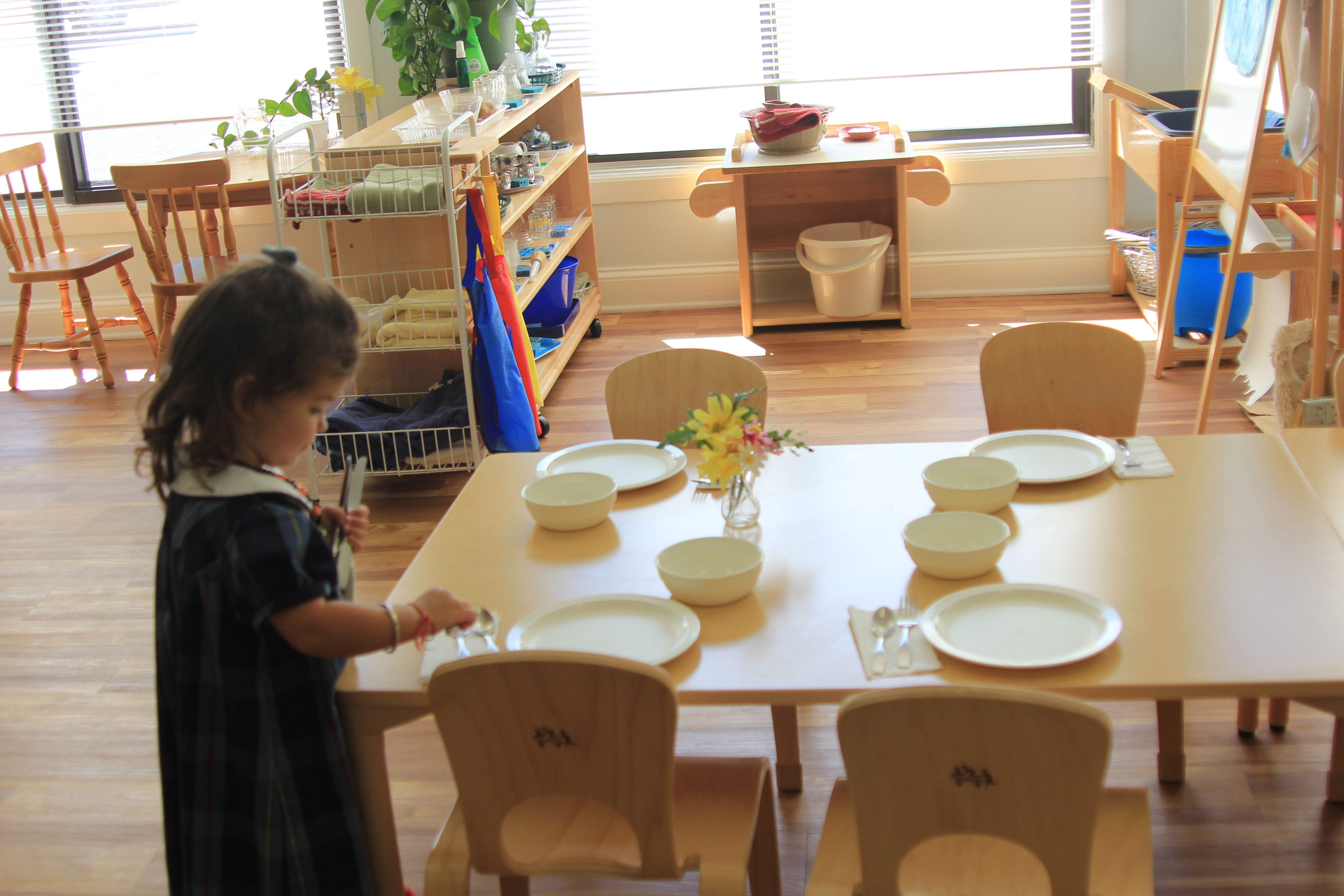 Setting The Table For Lunch Montessori North