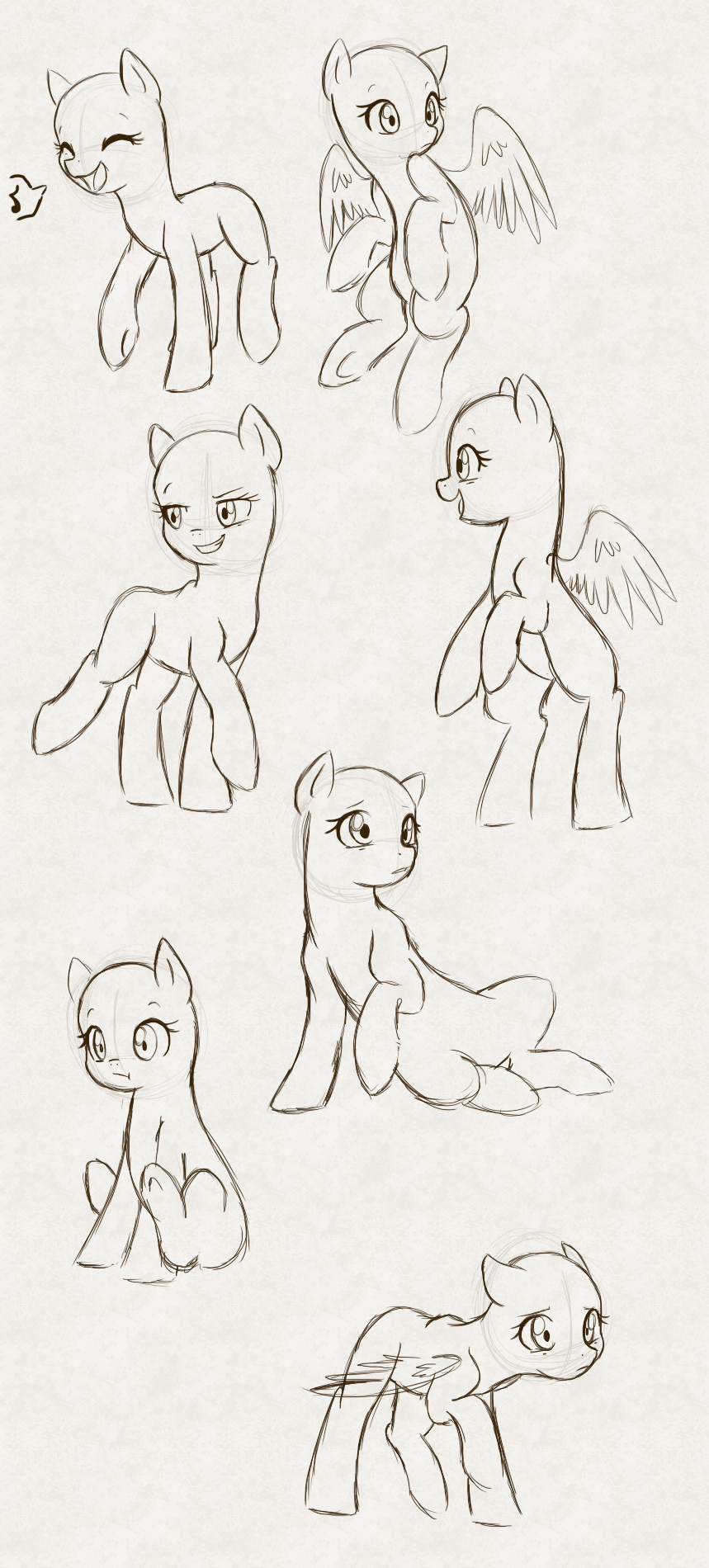 My little pony body drawing doodle craft design and draw your - Mlp Poses By Hikariviny Deviantart Com On Deviantart