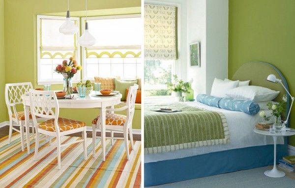 dormitorio pintado con tonos verdes buscar con google