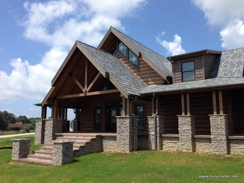 Exterior Photos Of Honest Abe S Cambridge Model In Crossville Tn Log Homes Exterior Log Homes Timber House