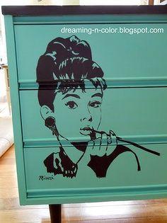 audrey he burn dresser, furniture furniture revivals, painting