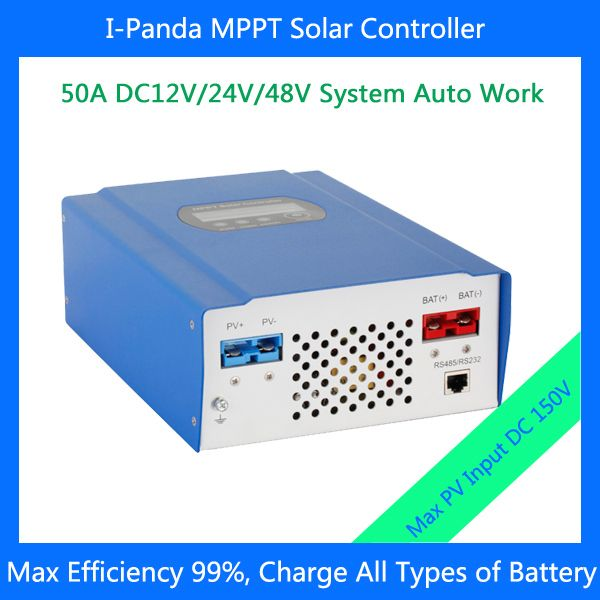 CE RoHS LCD 2800W 50A 48V MPPT solar charger controller