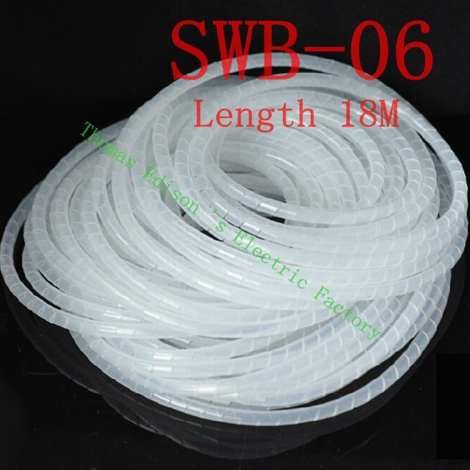 Spiral wrapping band SWB-06 diameter 6mm About 13M length White ...