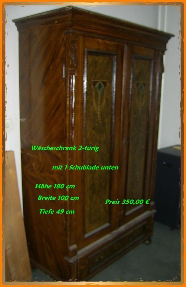 schöner alter Wäscheschrank, Kleiderschrank, Echtholzmöbel Schrank ...
