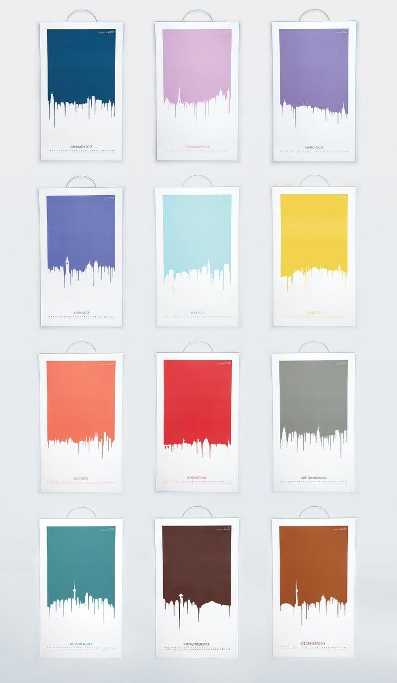 Calendar Typography Examples : Examples of alphabet artwork paint calendar valspar paint