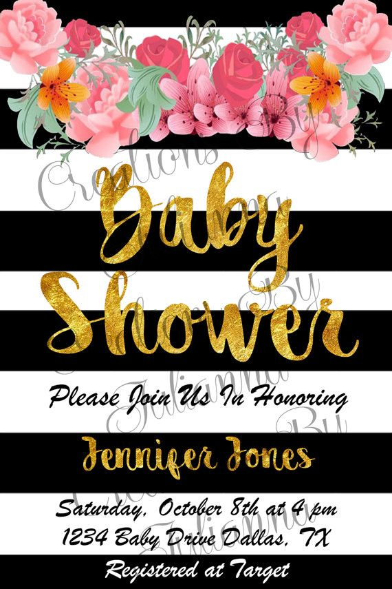 Kate Spade Inspired Baby Shower Invitation by CreationByJulianna ...