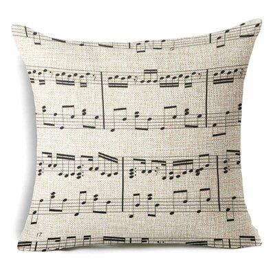Red Barrel Studio Schuller Music Sheets Cotton Throw Pillow Decorative Pillow Cases Linen Throw Pillow Decorative Cushion Covers