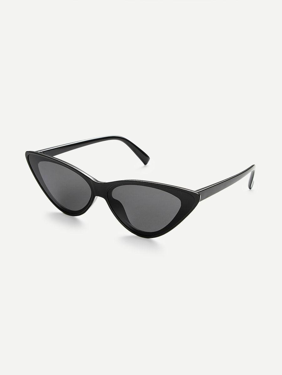 5d9ea1d43c Flat Lens Cat Eye Sunglasses in 2019 | Sunglasses 2019 | Cat eye ...