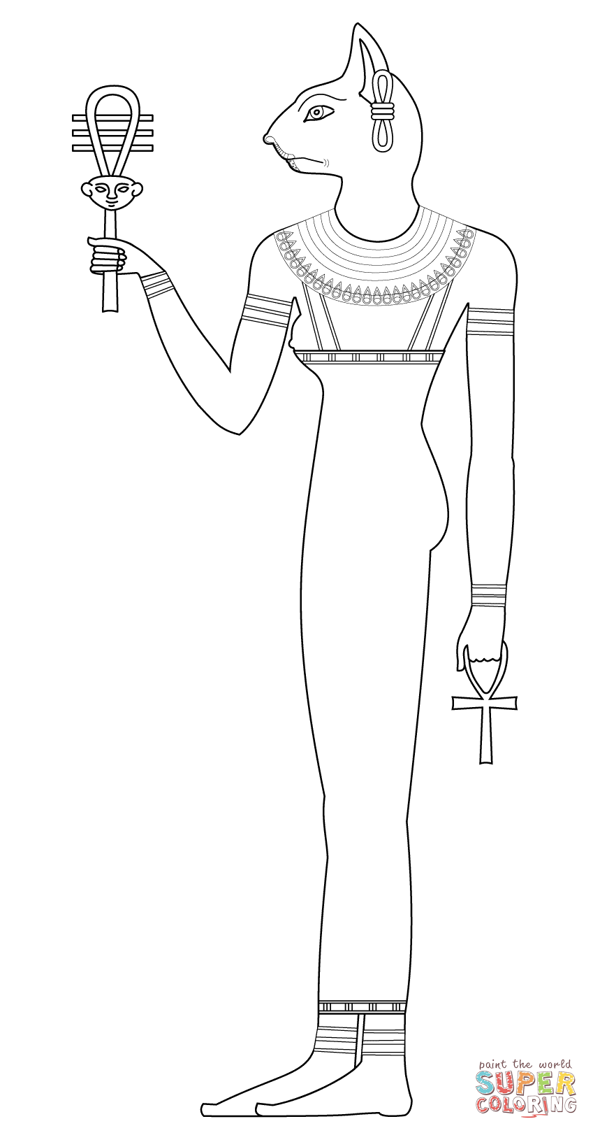 Bastet coloring page | Free Printable Coloring Pages ...