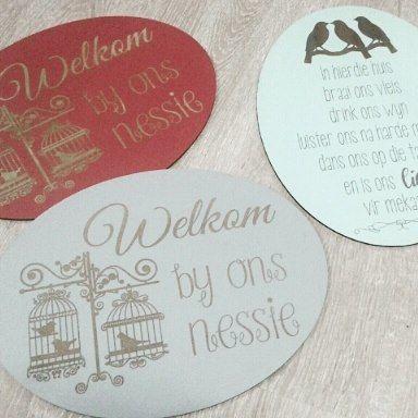 Welcome wallart signs #myeienessie #welcome #wallart