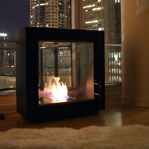 free-standing-urban-style-through-gas-fireplace | Basement | Pinterest |  Fireplaces, Search and Standing fireplace - Free-standing-urban-style-through-gas-fireplace Basement