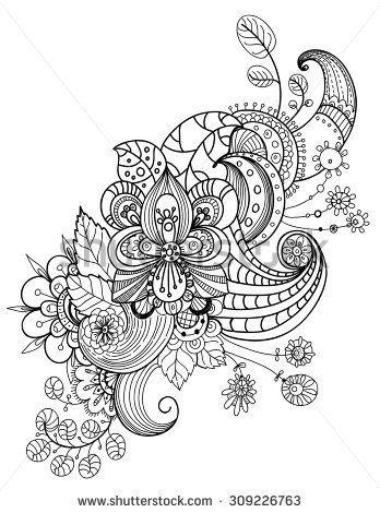 Beautiful floral ornament, Decorative element for design