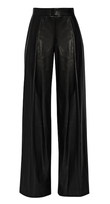 DKNY Faux Leather Wide-Leg Pants | Menswear design | Pinterest ...