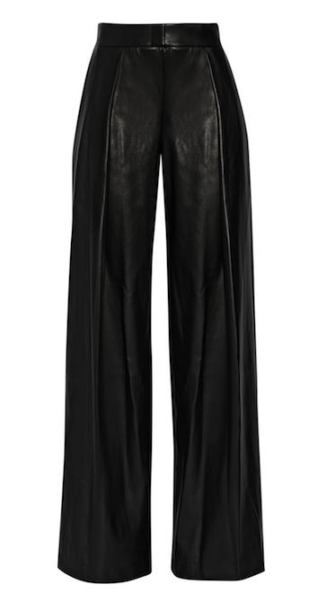 8ef9182e75e5 DKNY Faux Leather Wide-Leg Pants Wide Leg Trousers