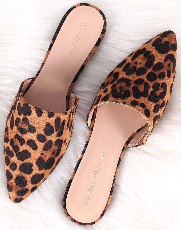 Leopard Suede Slip On Flats 15