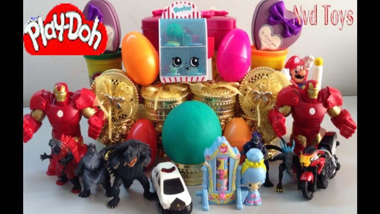 Iron Man | Many Toys show | Play Doh Surprise Egg | Play Doh Surprise Ball