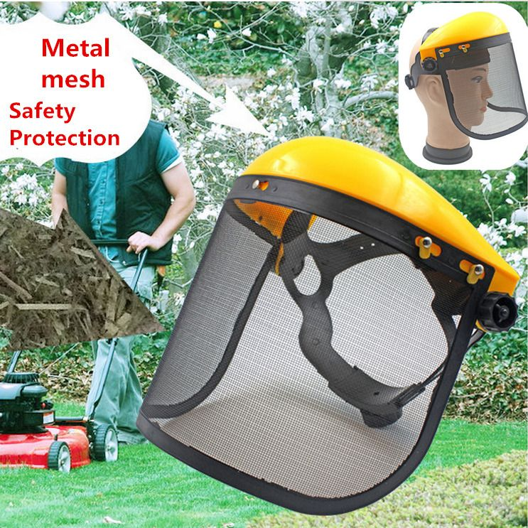 Chainsaw Protection Helmet With Steel Mesh Visor /& XL Chainsaw Gloves