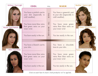 Warm Cool What Does It All Mean Swatches Photos Reviews Warm Skin Tone Cool Skin Tone Skin Undertones
