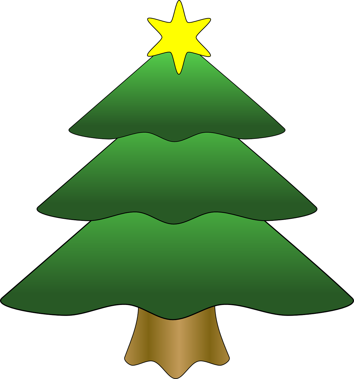 Vacation Tree Christmas Star Gold Xmas Vacation Tree Christmas Star Gold Xmas Cartoon Christmas Tree Holiday Christmas Tree Christmas Tree