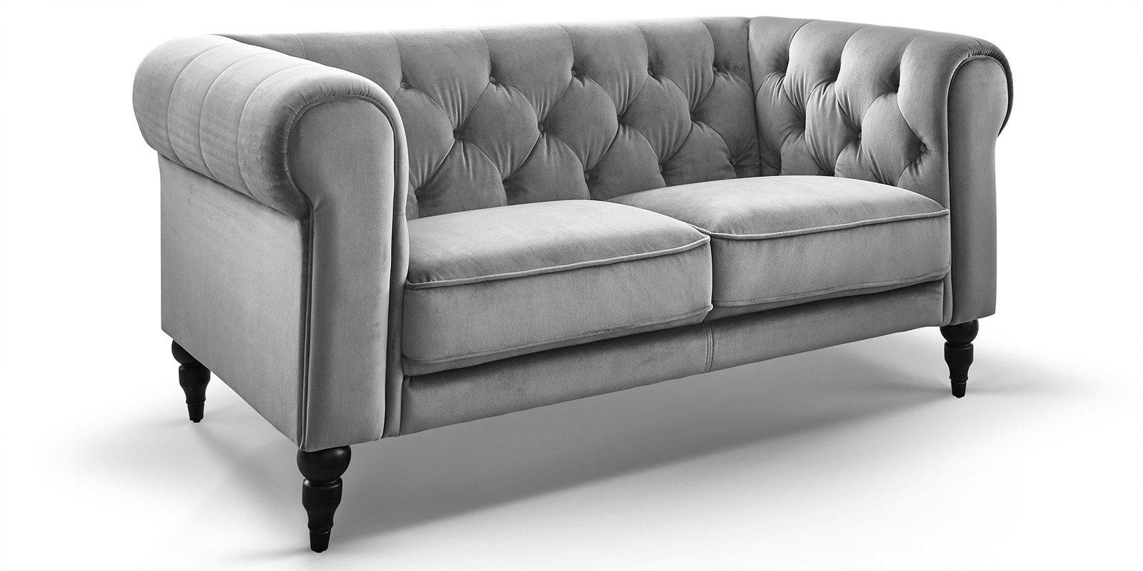 2 Sitzer Chesterfield Samt Hudson Comfort2home Bequemes Sofa 2 Sitzer Sofa Sitzkissen