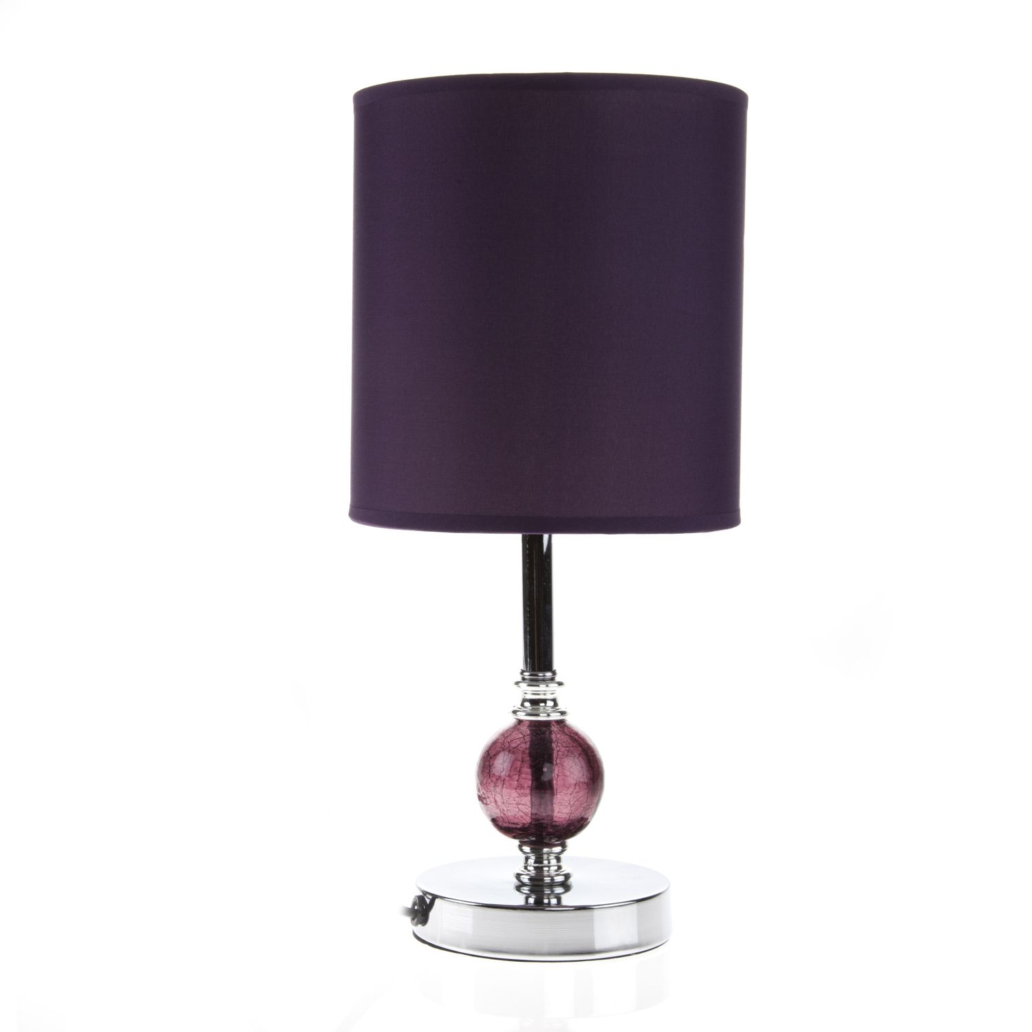 This plum crackle ball table lamp is a great way to light up any this plum crackle ball table lamp is a great way to light up any room geotapseo Images