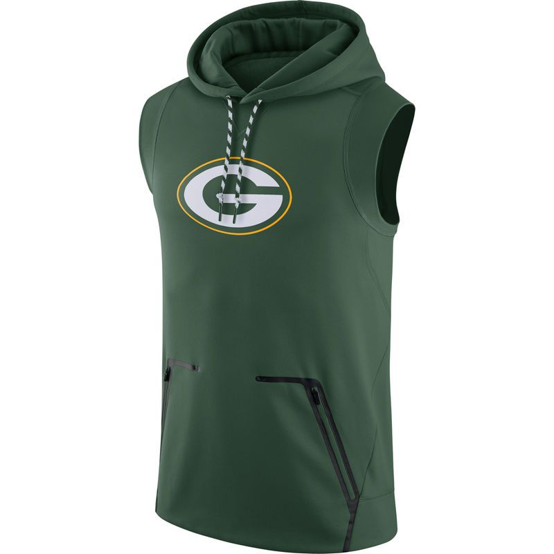 Green Bay Packers Nike Sideline Sleeveless Therma FIT