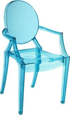 Free Shipping New Modern Kids Blue Clear Acrylic Lucite Lou Lou Ghost Arm  Chair | EBay