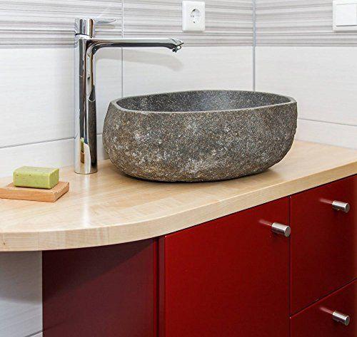 Flusssteinwaschbecken Waschschale 40 Cm Klein Flusskiesel Aufsatz