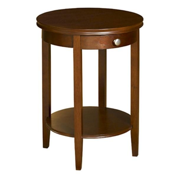 Contemporary Cherry MDF Wood Shelburne Accent Table