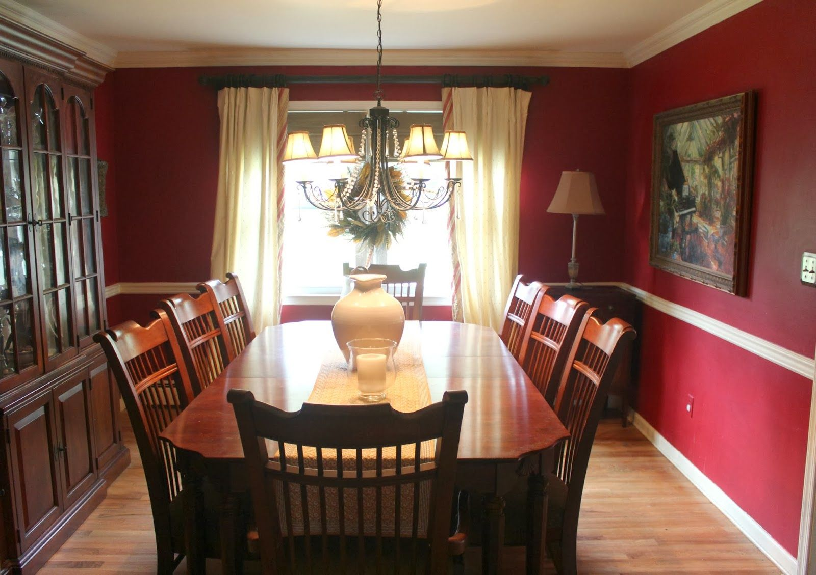 Stunning Red Dining Room Curtains Gallery Startupio