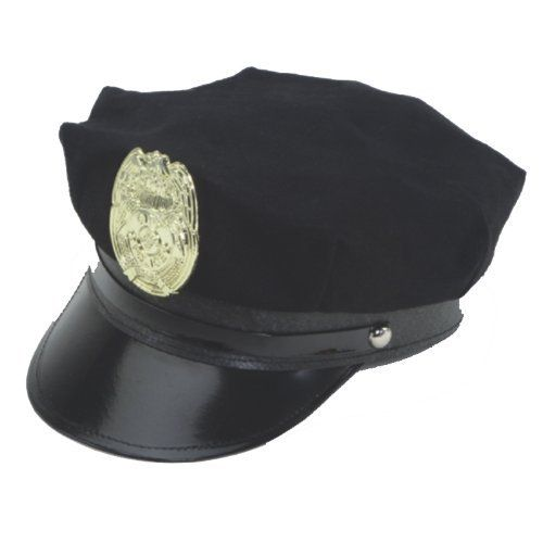 f4ab5038ffa NAVY BLUE POLICE HAT WITH BADGE by Jacobson Hat Company.  9.89. One size  fits most. This hat makes a great accessory for Halloween