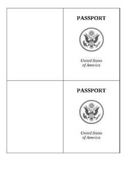 Passport Template Passport Template Passports For Kids Teaching