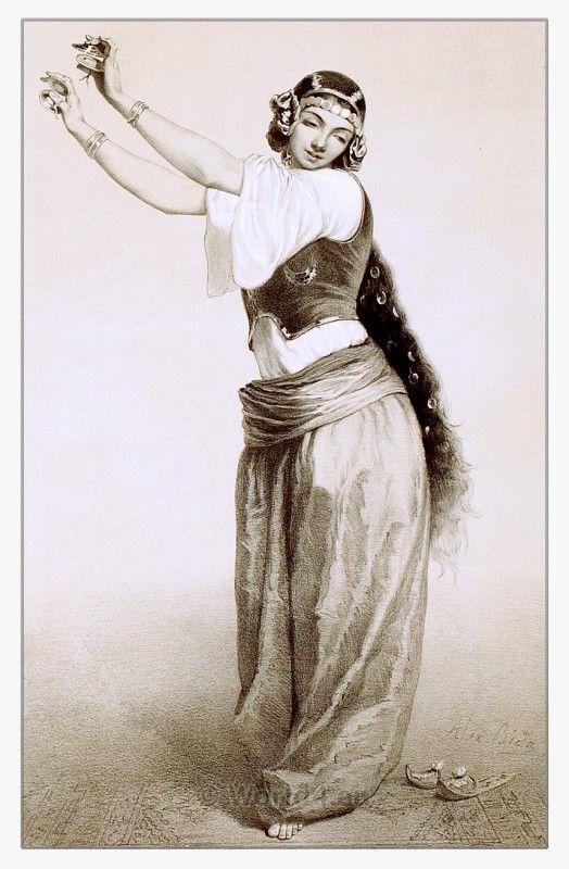 0c79d0150d621 Egyptian historical clothing, courtesan Orientation Outfit, Arabian Women,  Vintage Dance, Tribal Belly