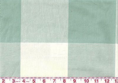 Large-Aqua-Check-by-P-Kaufmann-Drapery-Upholstery-Fabric-Buffalo-Check-Seabreeze