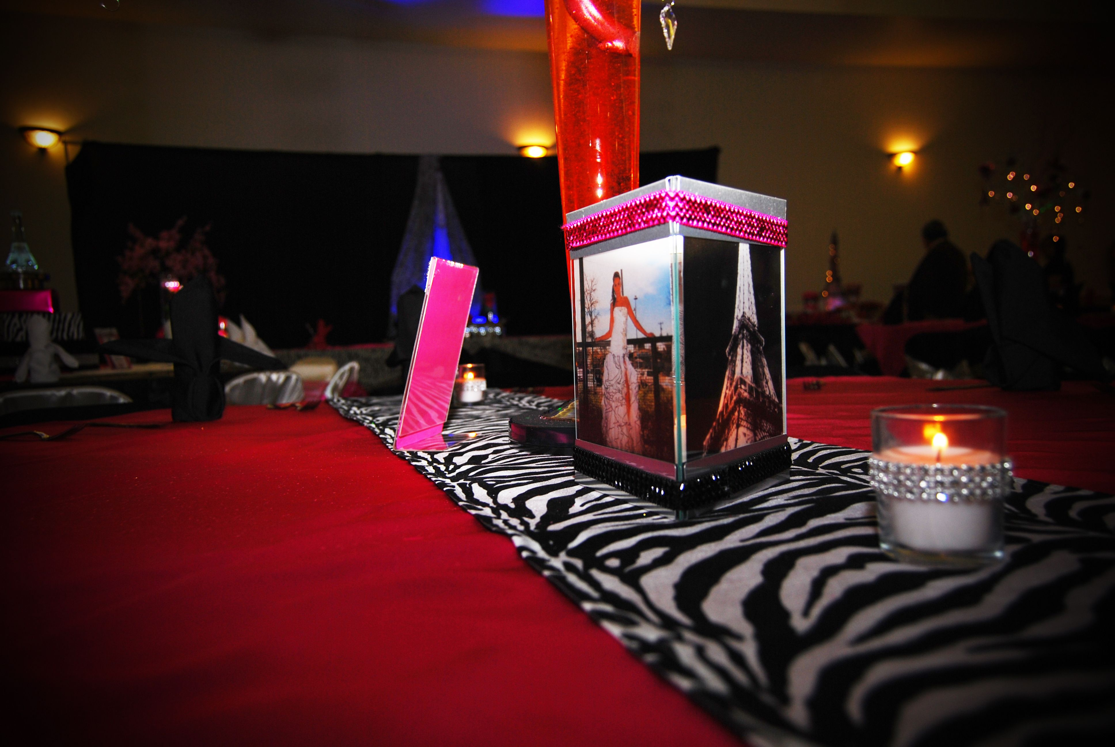 Candle lit picture frame centerpiece wedding pinterest