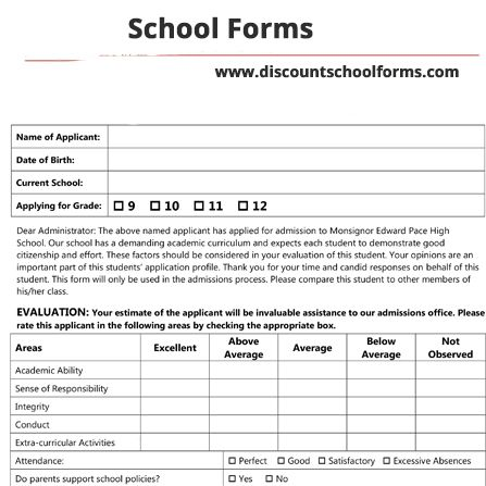 We Do Everything We Can To Make The Entire Boarding School Forms