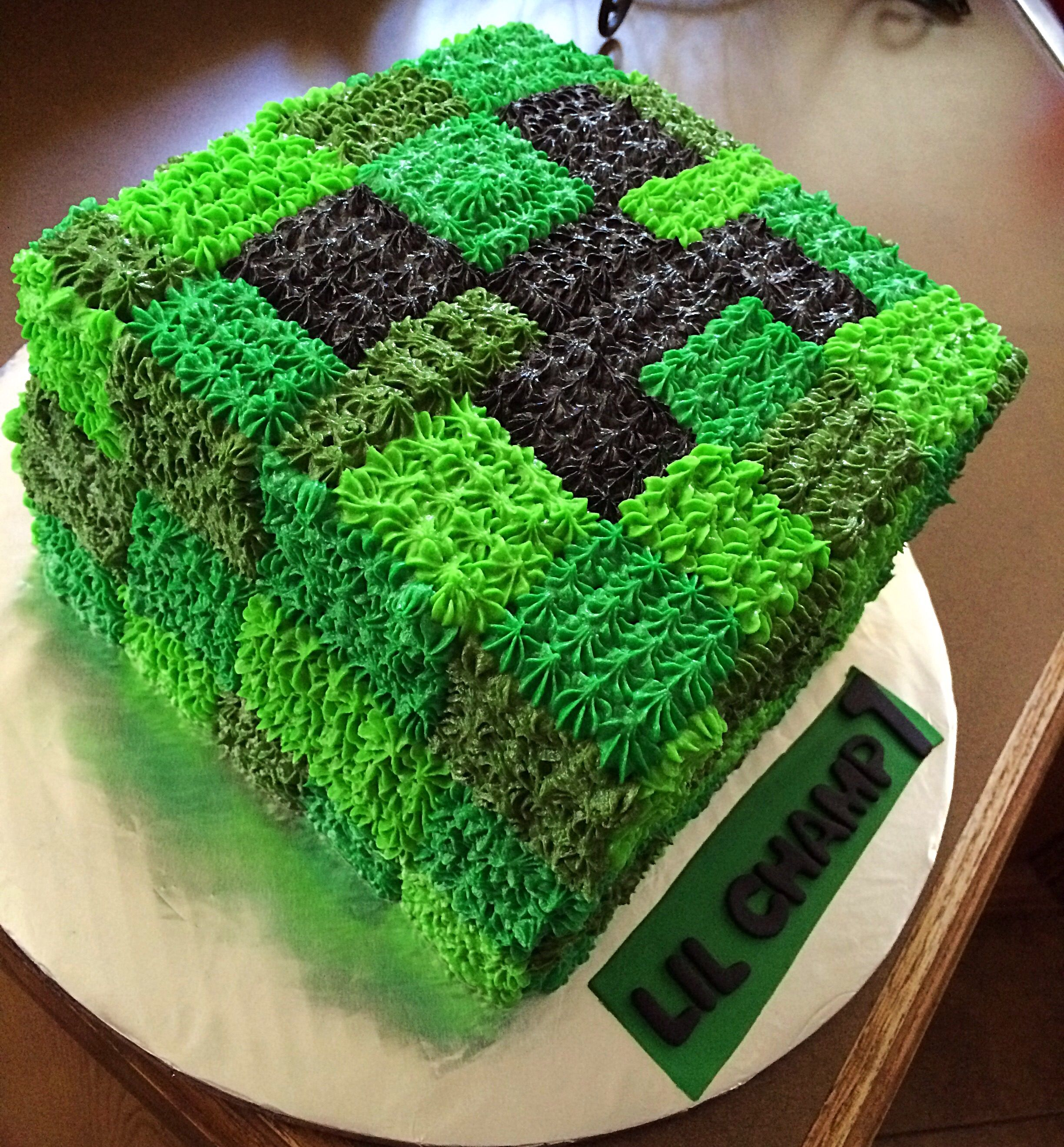 Minecraft Creeper Cake Backen