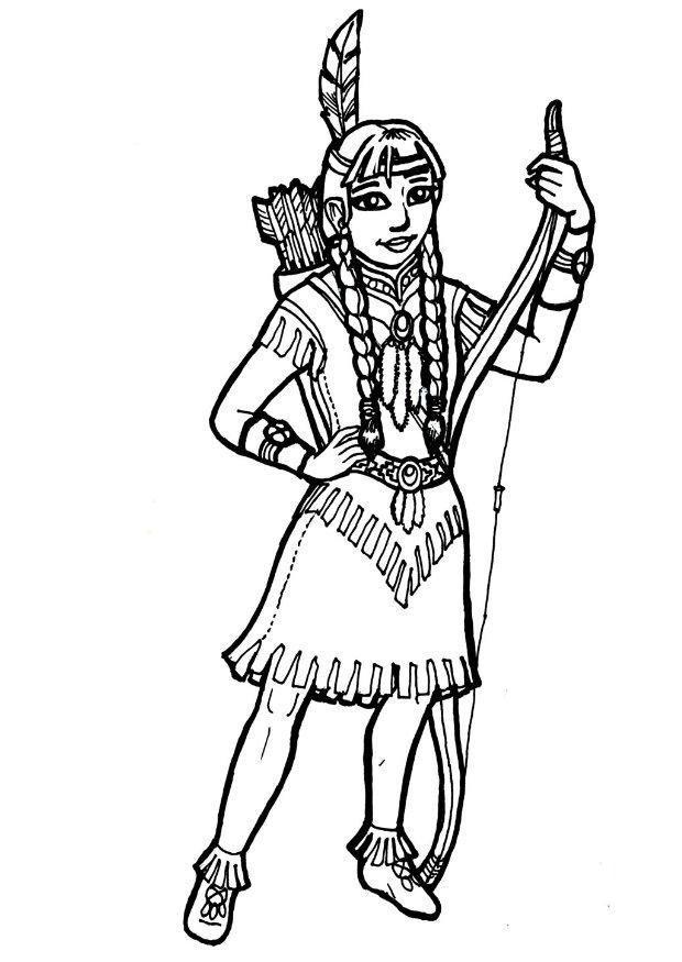 Image Result For Indian Coloring Pages Indianer Madchen Malvorlage Prinzessin Indianer