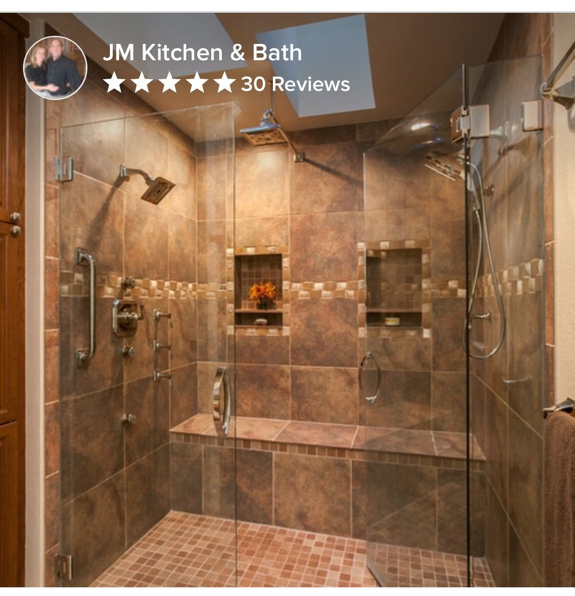 Large Master Bathroom Shower With Possibly 2 Shower Heads With