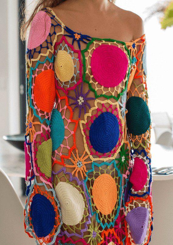 Crochet Beach Dress Crochet Maxi Dress Crochet Dress | Etsy #crochetbeachdress