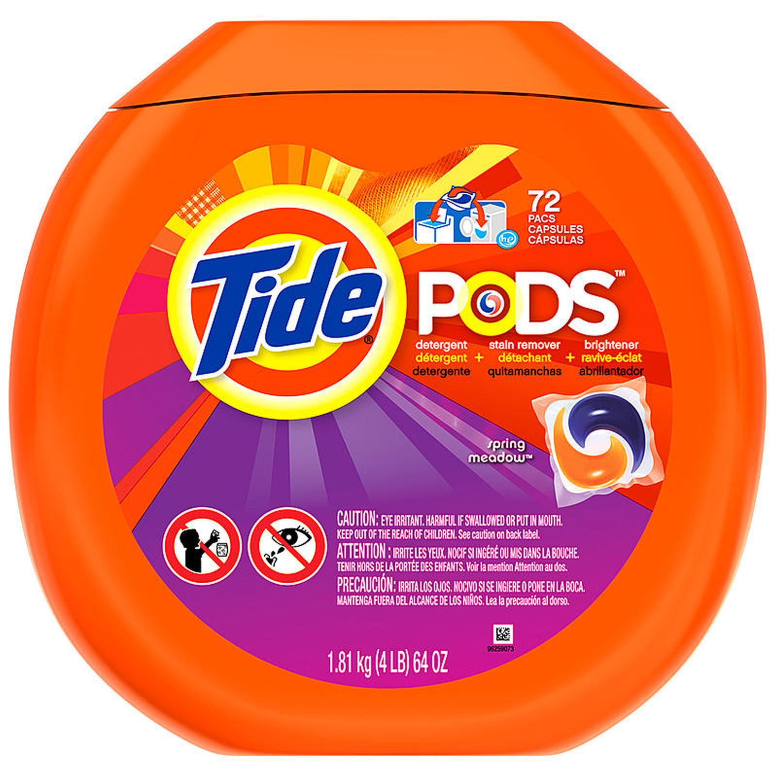 Tide Pods Spring Meadow Scent Laundry Detergent, 72 Loads