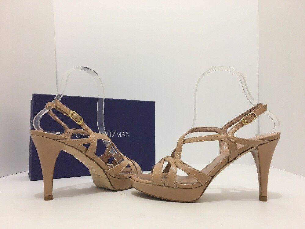 e68538d82163 Stuart Weitzman Axis Nude Patent Leather Womenâs Platform High Heels  Sandals 7 M