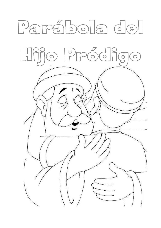 Parabola Del Hijo Prodigo Para Colorear By Franciscanos Valladolid