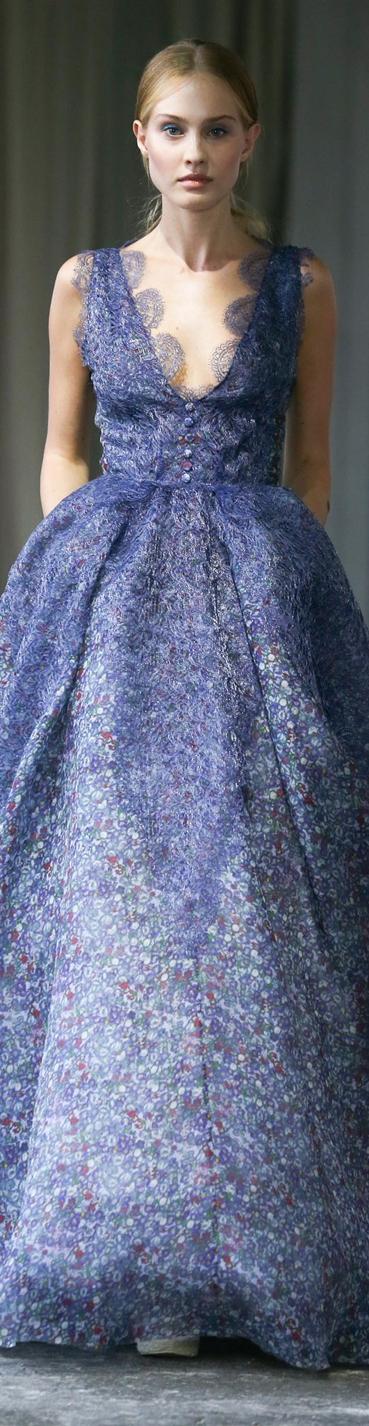 Navy blue wedding wedding dress luisa beccaria spring