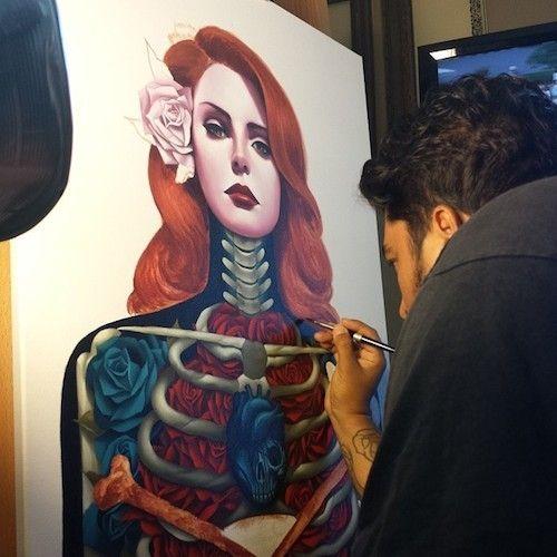 Pintura inspirada no conceito do álbum Born to Die.