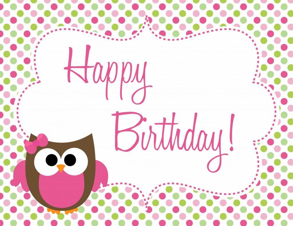 Owl Birthday Freebie! Website with cute bday ideas and free ...