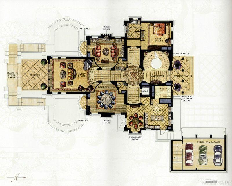 Villa Riad Camilia - Villas Jennah Résidence à Marrakech Home - plan d interieur de maison