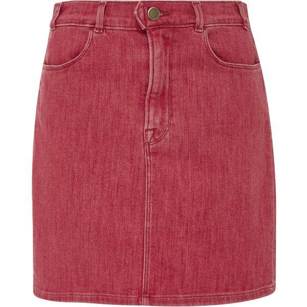 Frame Denim Le Color Denim Pencil Skirt (305 CAD) ❤ liked on ...