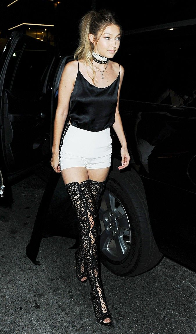 ee288665f39e Gigi Hadid Dressed Like a Supermodel for Her 21st Birthday Party via   WhoWhatWear