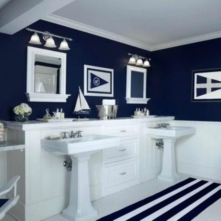 wainscoting colors navy blue bathroom for beach themed